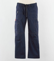 Dickies Gen Flex Womens Cargo Scrub Pants Navy - Tall