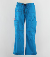 Dickies Gen Flex Womens Cargo Scrub Pants Riviera Blue - Tall