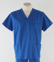 Cherokee Workwear Originals Unisex Scrub Top Royal