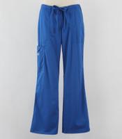 Cherokee Workwear Core Stretch Womens Cargo Scrub Pants Royal - Petite