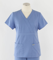 Greys Anatomy Womens Mock Wrap Scrub Top Ciel