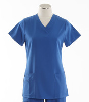 Jockey Womens Scrub Top with Soft V-Neck Royal