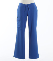 Jockey Womens Scrub Pants with Half Elastic, Half Drawstring Royal - Petite