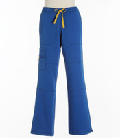 WonderWink Womens 4-Stretch Sporty Cargo Scrub Pants Royal - Tall