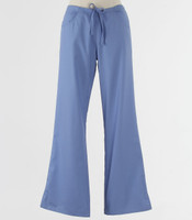 Maevn Womens Fit Drawstring w/ Back Elastic Flare Leg Scrub Pant Ceil Blue - Tall