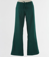 Maevn Womens Fit Drawstring w/ Back Elastic Flare Leg Scrub Pant Hunter Green - Tall