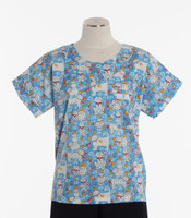 Scrub Med Womens Print Scrub Top Cute To Boot - Original Price: $31.00 - ALL SALES FINAL!