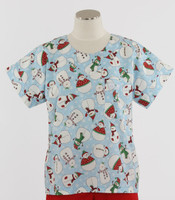 Scrub Med Womens Print Scrub Top Frosted Flakes - Original Price: $31.00 - ALL SALES FINAL!