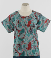 Scrub Med Womens Print Scrub Top Festival - Original Price: $31.00 - ALL SALES FINAL!