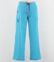 Carhartt Womens Cross Flex Boot Cut Scrub Pants Cyan - Petite