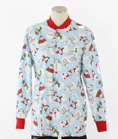Scrub Med Womens Print Crew Neck Lab Jacket Frosted Flakes - Original Price $43 - ALL SALES FINAL!