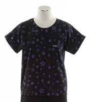 Scrub Med Womens Print Scrub Top Starry Night - Original Price: $31.00 - ALL SALES FINAL!