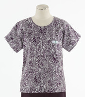 Scrub Med Womens Print Scrub Top Quill - Original Price: $31.00 - ALL SALES FINAL!