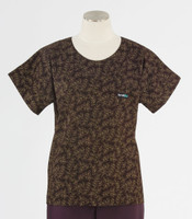 Scrub Med Womens Print Scrub Top Bittersweet - Original Price: $31.00 - ALL SALES FINAL!