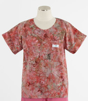 Scrub Med Womens Print Scrub Top Hibiscus - Original Price: $31.00 - ALL SALES FINAL!