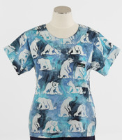 Scrub Med Womens Print Scrub Top Polaris - Original Price: $31.00 - ALL SALES FINAL!