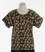 Scrub Med Womens Print Scrub Top Amelia - Original Price: $31.00 - ALL SALES FINAL!