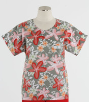Scrub Med Womens Print Scrub Top Garden Party- Original Price: $31.00 - ALL SALES FINAL!