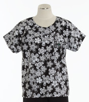Scrub Med Womens Print Scrub Top Hypnotic - Original Price: $31.00 - ALL SALES FINAL!