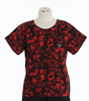 Scrub Med Womens Print Scrub Top Happy Panda - Original Price: $31.00 - ALL SALES FINAL!