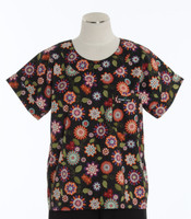 Scrub Med Womens Print Scrub Top Georgia - Original Price: $31.00 - ALL SALES FINAL!