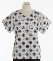 Scrub Med Womens Print Scrub Top Cartwheels - Original Price: $31.00 - ALL SALES FINAL!