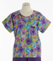 Scrub Med Womens Print Scrub Top Monet - Original Price: $31.00 - ALL SALES FINAL!