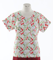 Scrub Med Womens Print Scrub Top Mittens - Original Price: $31.00 - ALL SALES FINAL!