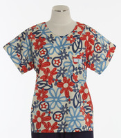 Scrub Med Womens Print Scrub Top Give Peace a Chance - Original Price: $31.00 - ALL SALES FINAL!