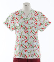 Scrub Med Womens Print V-Poc Scrub Top Mittens - Original Price $33 - ALL SALES FINAL!