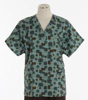 Scrub Med Womens Print V-Poc Scrub Top So Seventies - Original Price $33 - ALL SALES FINAL!