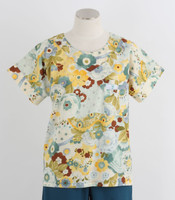 Scrub Med Womens Print Scrub Top Lulu - Original Price: $31.00 - ALL SALES FINAL!