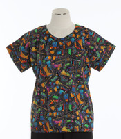 Scrub Med Womens Print Scrub Top Witches Brew - Original Price: $31.00 - ALL SALES FINAL!