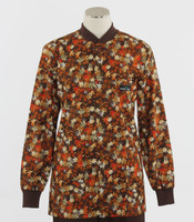 Scrub Med Womens Print Crew Neck Lab Jacket Koi Garden - Original Price $43 - ALL SALES FINAL!