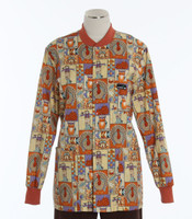 Scrub Med Womens Print Crew Neck Lab Jacket Giving Thanks - Original Price $43 - ALL SALES FINAL!