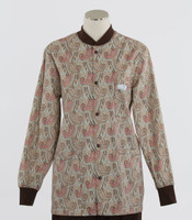 Scrub Med Womens Print Crew Neck Lab Jacket Bombay - Original Price $43 - ALL SALES FINAL!