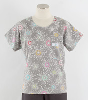 Scrub Med Womens Print Scrub Top City Lights - Original Price: $31.00 - ALL SALES FINAL!