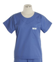 Scrub Med Womens Solid Scrub Top Hyacinth (ScrubLite) - Original Price $28 - ALL SALES FINAL!
