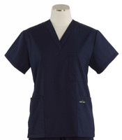 Scrub Med Womens Solid V-Poc Scrub Top Twilight (ScrubLite) - Original Price $30 - ALL SALES FINAL!