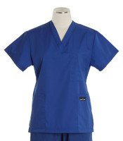 Scrub Med Womens Solid V-Poc Scrub Top Pacific Blue (ScrubLite) - Original Price $30 - ALL SALES FINAL!