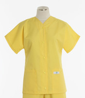 Scrub Med Womens Solid Baseball Scrub Top Lemonade - Original Price $32 - ALL SALES FINAL!