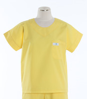 Scrub Med Womens Solid Scrub Top Lemonade - Original Price $28 - ALL SALES FINAL!