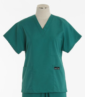 Scrub Med Womens Solid V-Poc Scrub Top Teal - Original Price $30 - ALL SALES FINAL!