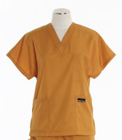 Scrub Med Womens Solid V-Poc Scrub Top Pumpkin (ScrubLite) - Original Price $30 - ALL SALES FINAL!
