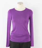 WonderWink Womens Silky Long Sleeve Tee Electric Violet