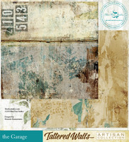 Blue Fern Studios - Tattered Walls 12x12 dbl sided paper - The Garage