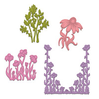 Heartfelt Creations Backyard Blossoms Collection - Garden's Edge Coneflower Die