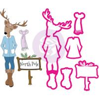 Prima Julie Nutting - Christmas Stamp & Dies Rudi - Reindeer