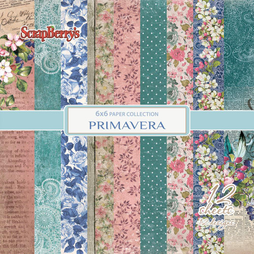 "Primavera -  Paper Pack 6""x6"" 12/single sided - ScrapBerry's"