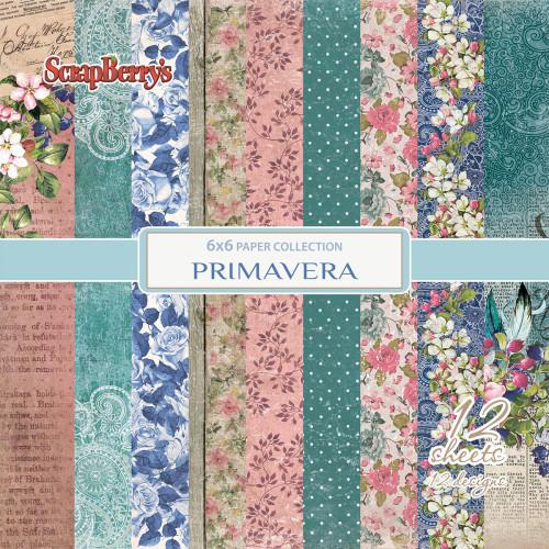 "Primavera -  Paper Pack 6""x6"" 12/single sided - ScrapBerry's"
